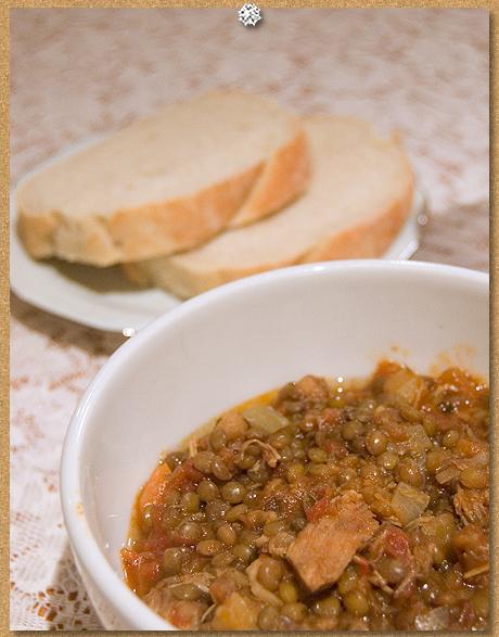 Pork and lentil cassoulet