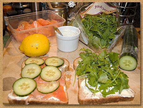 Salmon sandwih